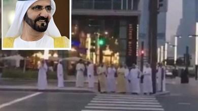 Photo of شاهد: كيف تصرف محمد بن راشد في إشارة مرور