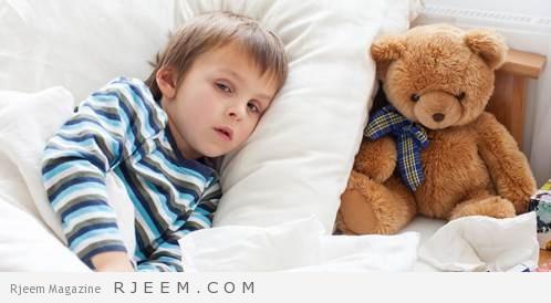 صورة لطفل مريض