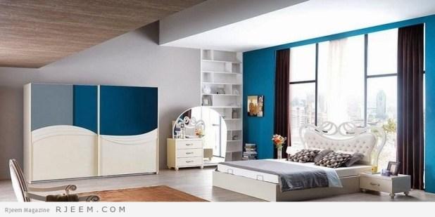 احدث غرف نوم عرسان كاملة هادئة اللون
