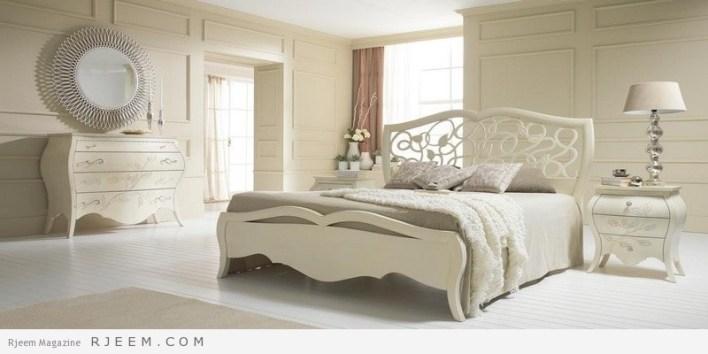غرف نوم كلاسيك بيضاء عصرية