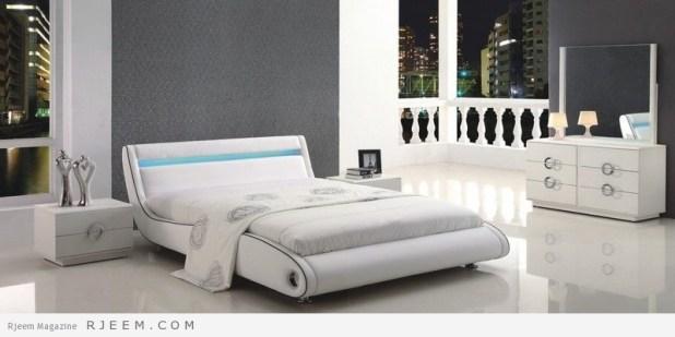 غرف نوم باللون الابيض تصميم مذهل
