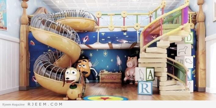 ديكورات غرف نوم اولاد مع العاب