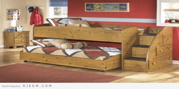 ديكورات غرف نوم اولاد سرير مع كنبة