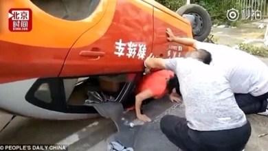 Photo of بالفيديو: تقلب السيارة في محاولتها الثامنة لنيل رخصة قيادة