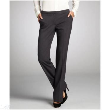 1186-Tahari-women-s-grey-melange-stretch-knit-Peyton-dress-pants-1