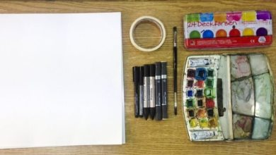 Photo of كيف تلون لوحة أو منظور هندسي بالألوان المائية (ألوان الأكواريل) Aquarelle