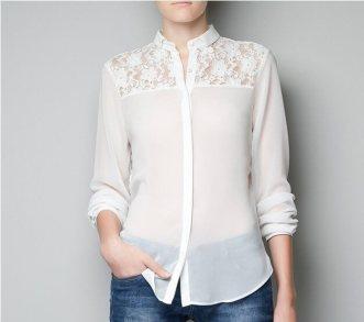 new-2014-white-black-women-blouses-long-sleeve-lace-chiffon-shirt-blusas-femininas-brand-women-clothing