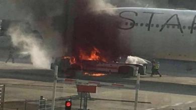 Photo of اشتعال النيران بطائرة هندية تقل 151 راكبا أثناء هبوطها في السعودية