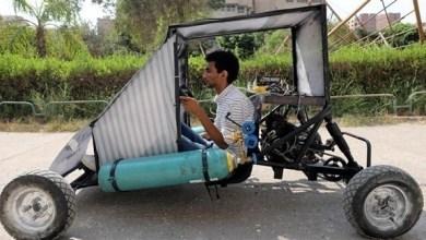 Photo of مصر: طلاب يصممون سيارة تعمل بالهواء