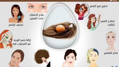 Photo of إنفوغراف: كيف تستخدمين البيض لتعزيز جمالك؟