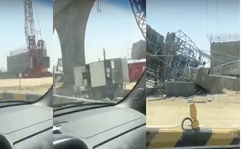 Photo of فيديو و صور سقوط جسر الزور بالكويت