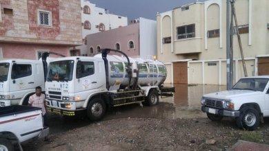 """Photo of """"55"""" فرقة بأمانة الطائف لشفط المياه وإزالة الأتربة جراء الأمطار"""
