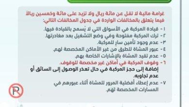 Photo of تفاصيل أبرز تعديلات نظام المرور الجديدة وغرامات المخالفات