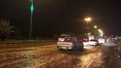 Photo of شاهد: أمير منطقة الحدود الشمالية يتفقد شوارع بمدينة عرعر إثر هطول الأمطار الغزيرة