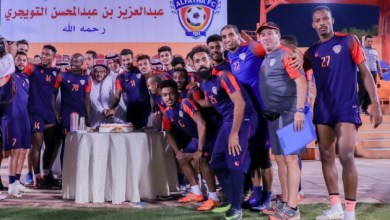 Photo of الفيحاء يحتفل بلاعبه عبدالله آل سالم