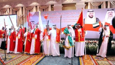 Photo of عبدالله بن زايد يحضر حفل سفارة البحرين باليوم الوطني