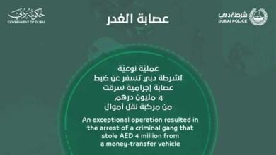 Photo of شرطة دبي تلقي القبض على عصابة أفريقية سرقت 4 مليون