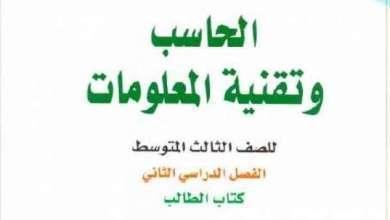 Photo of حل كتاب الحاسب ثالث متوسط ف٢ 1440 هـ