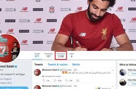 سبب اغلاق حساب اللاعب محمد صلاح على تويتر