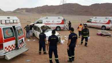 Photo of حادث مروع.. وفاة 5 وإصابة 6 آخرون على طريق العقير بالأحساء!