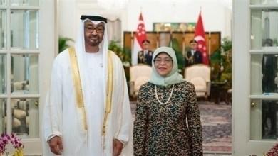 Photo of محمد بن زايد ورئيسة سنغافورة يبحثان علاقات البلدين والتطورات الإقليمية والدولية