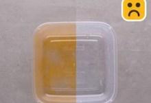 Photo of حيلة بسيطة لتنظيف عبوات الطعام البلاستيكية