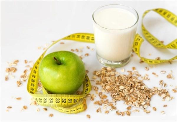 التفاح واللبن