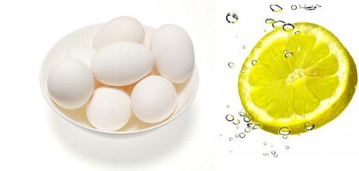 بياض البيض والليمون