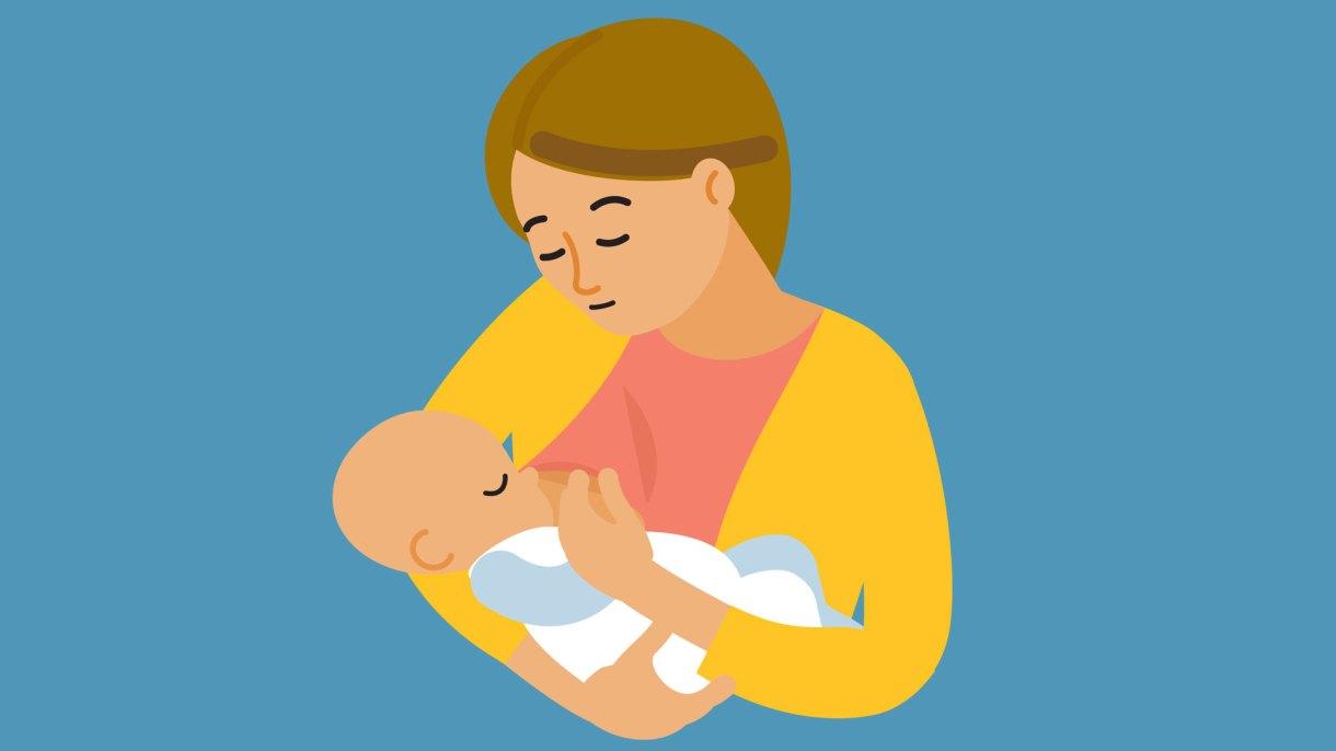 لتسهيل عملية الرضاعة