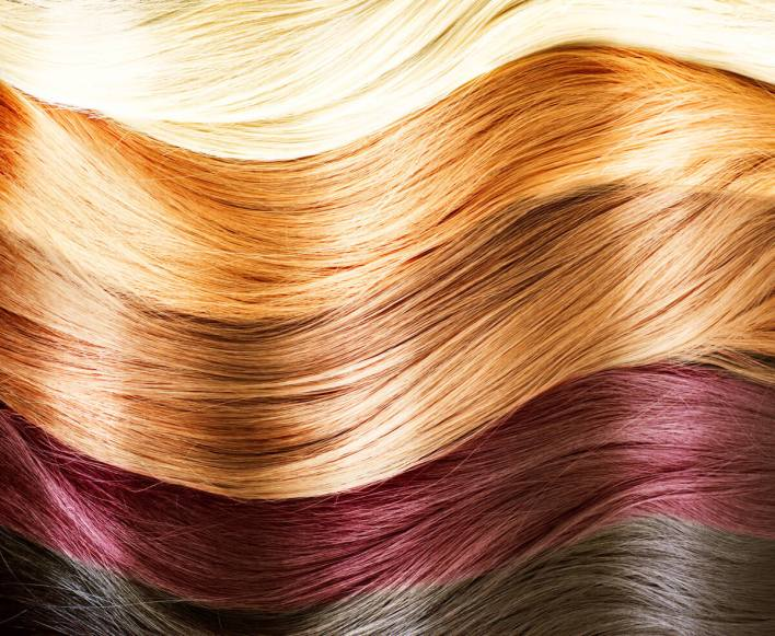 صبغة الشعر ولون البشرة