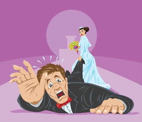 شعور قوى بالخوف من فكرة لزواج