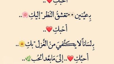 Photo of كلمات حب غزلية قصيرة للحبيب مكتوب علي صور