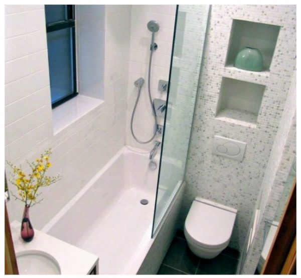 ديكور حمامات صغيرة . 1