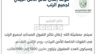 Photo of تصريح االداخلية حول نتائج القبول المبدئي على وظائف عسكرية في قوات الأمن البيئي