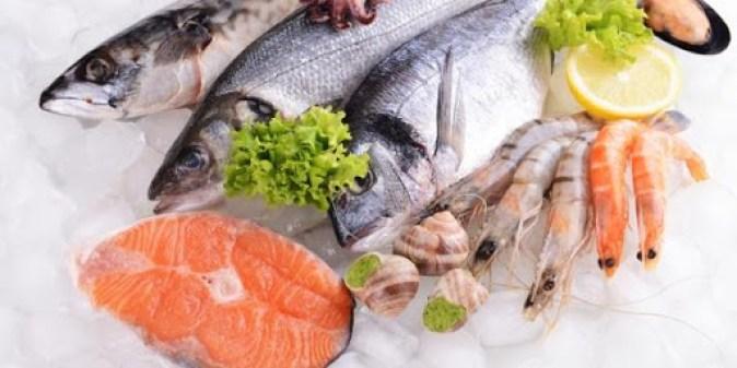 فوائد الاسماك و المأكولات البحرية .