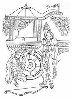 Image result for bhagavad gita sketch