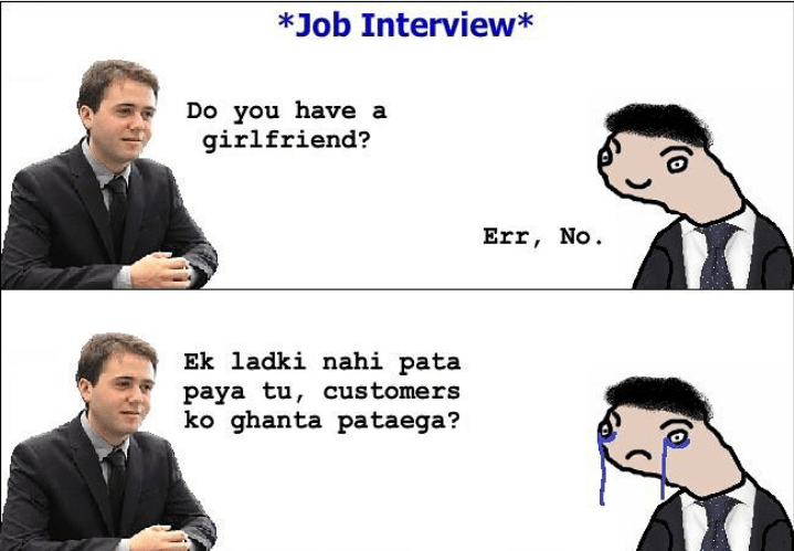 Trolled by interviewer