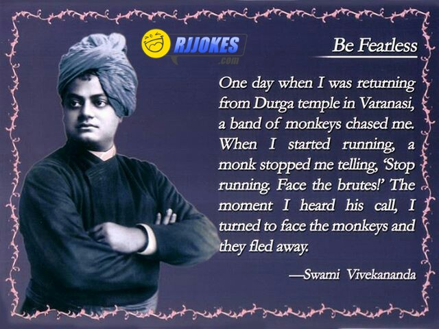 Be fearless by swami Vivekananda
