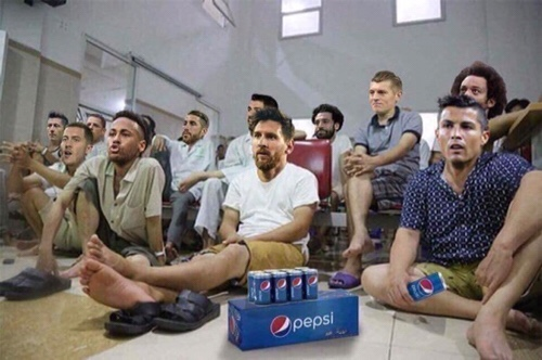 Ronaldo Messi watching final
