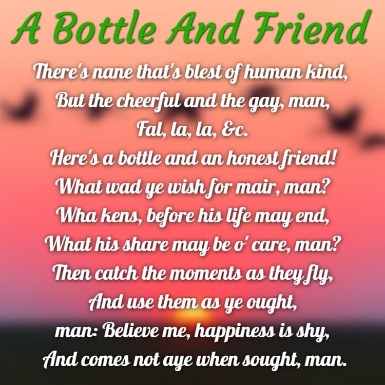 English poem in on friendship The 32