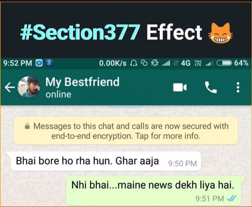 8 Funny jokes after section 377 Verdict