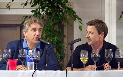 John Kongsgaard (with Michael Bonnacorsi) at 2003 Hospice du Rhone
