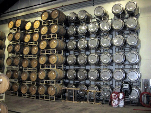 steel tanks and small barrels