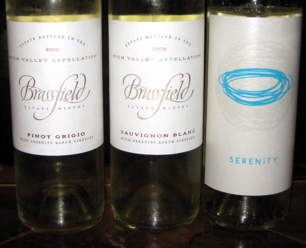 Brassfield white wines
