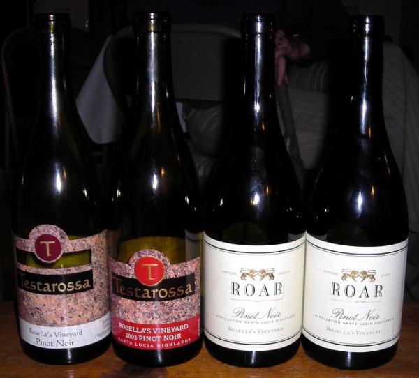 Pinots from Testarossa and Roar