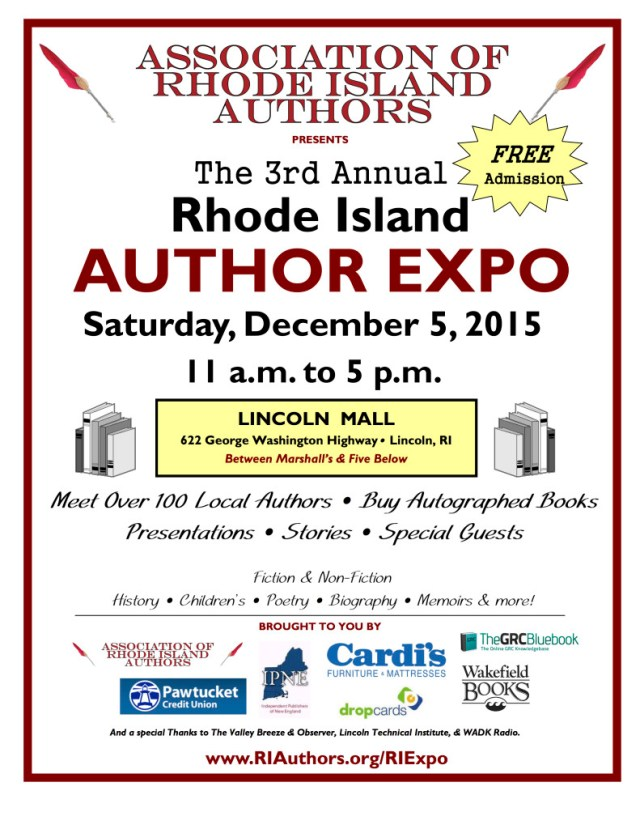 Flyer for the 3rd Annual Rhode Island Author Expo