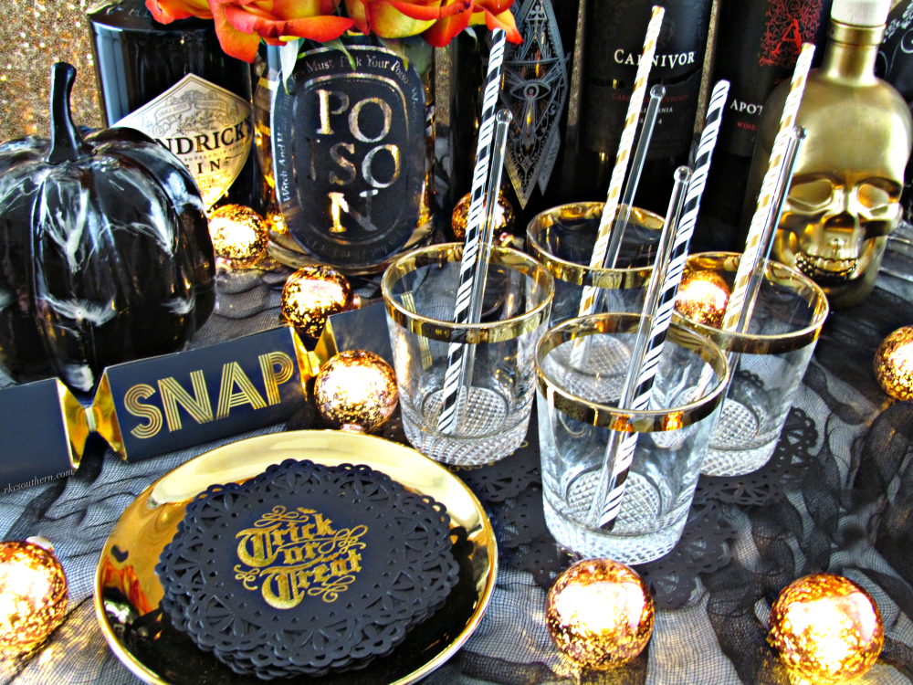 DIY Vampy Hallow's Eve Cocktail Bar Decor #RKCSouthern Blog