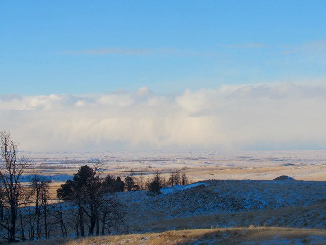 Winter cold front pushes across the landscape.