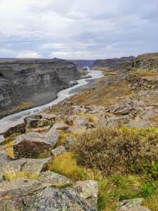 Fluss des Dettifoss