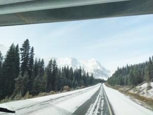Icefields Parkway im Schnee